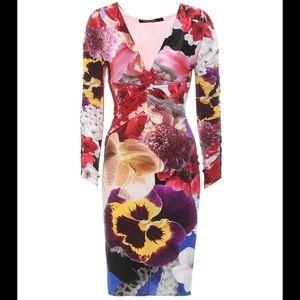 Roberto Cavali Printed Jersey Dress